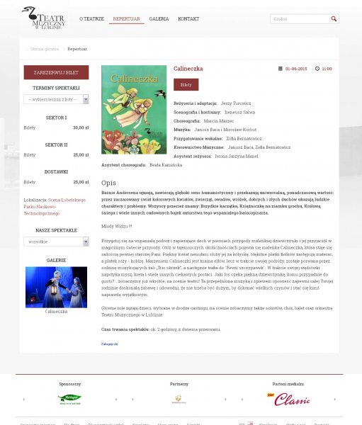 Redesign strony www Teatru Muzycznego