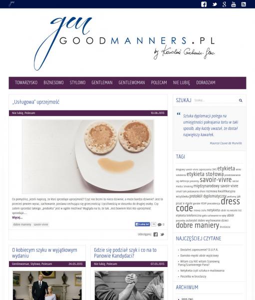 Blog Goodmanners.pl