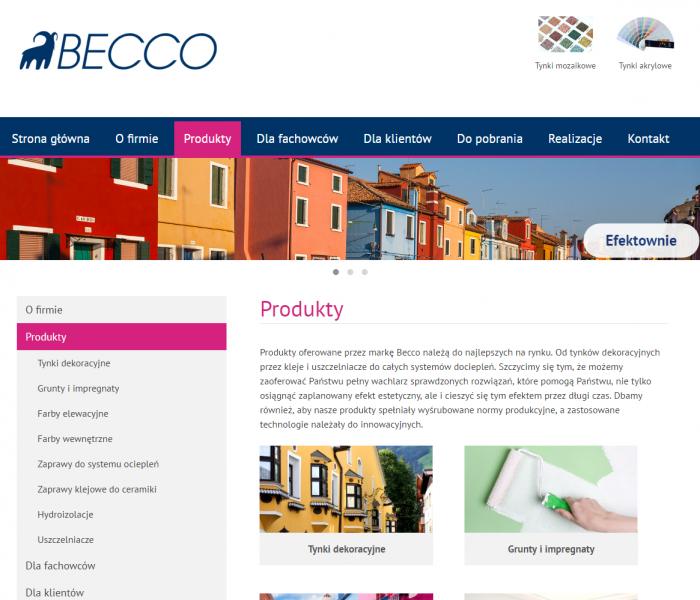Nowa strona internetowa producenta farb Becco