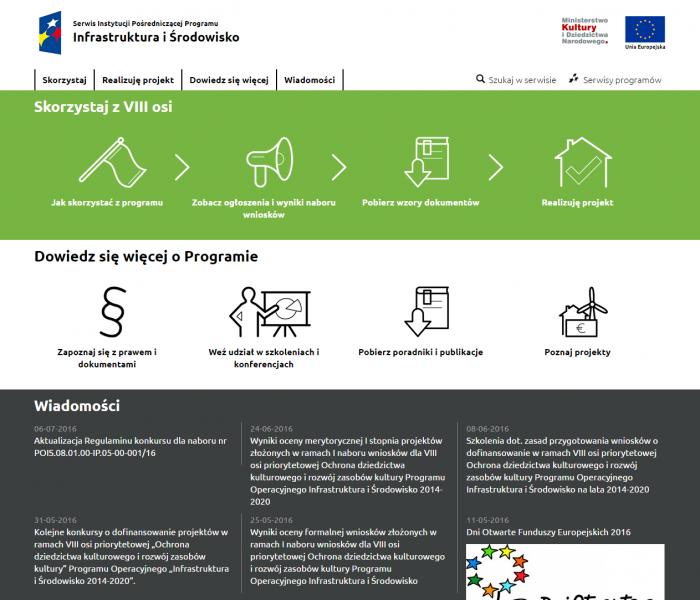 Serwis www największego programu unijnego z funduszami dla kultury