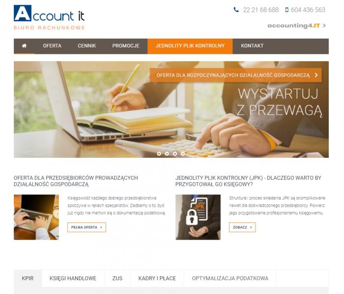 Biuro rachunkowe Account it - dwie marki, dwa produkty