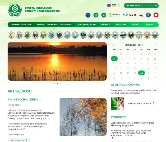 Lubelskie Parki Krajobrazowe - nowa strona internetowa