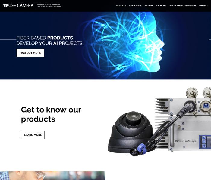 FiberCamera - wersja witryny na międzynarodowe targi branżowe
