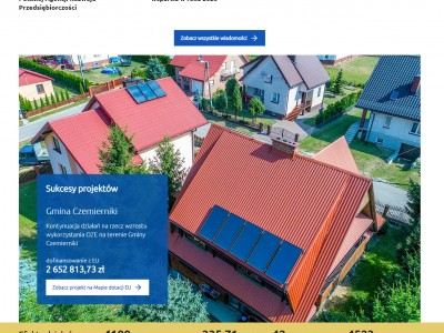 Widok strony głównej z realizacją dofinansowaną z funduszy unijnych - rpo.lubelskie.pl