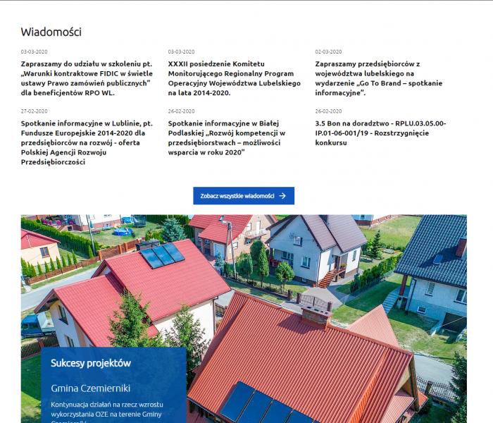 Nowy wortal Regionalnego Programu Operacyjnego na lata 2014-2020 dla Województwa Lubelskiego - oddany przed terminem